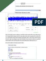 Audio Signal Recording in Matlab GUI