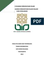 Makalah Sejarah Kebudayaan Islam Dr Shodiq