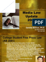 Update on Media Law 2008