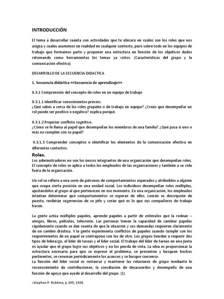 INTRODUCCIÓN Unidad 2, Tema 3. Roles