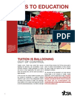CSA Post Secondary Education Lobbying Document 2012