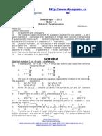 16642 Model Question Paper (Math x)Final (1)