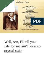 Mother to Son Langston Hughes