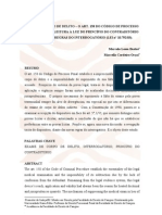 EXAME DE CORPO DE DELITO – O ART. 158 DO CÓDIGO DE PROCESSO - releitura em face ao principio do contraditório  marcella_cordeiro_orai