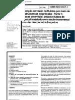 ABNT NBR Iso 5167-1 - Medidores de Vazao Placas de Orificio Venturis
