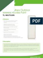 TL-WA7510N V1 Datasheet