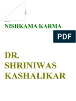 Stress and Nishkama Karma Dr. Shriniwas Kashalikar