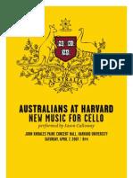 Australians at Harvard - Program