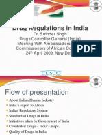 Drug Regulations in India Dr Surinder Singh