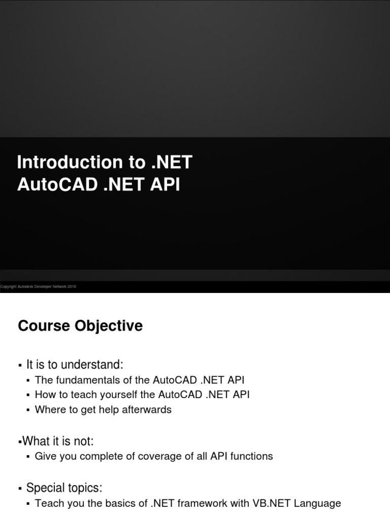 AutoCAD  NET Training | Auto Cad | Database Transaction