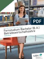 20110901 Studienfuehrer Bachelor Betriebswirtschaftslehre