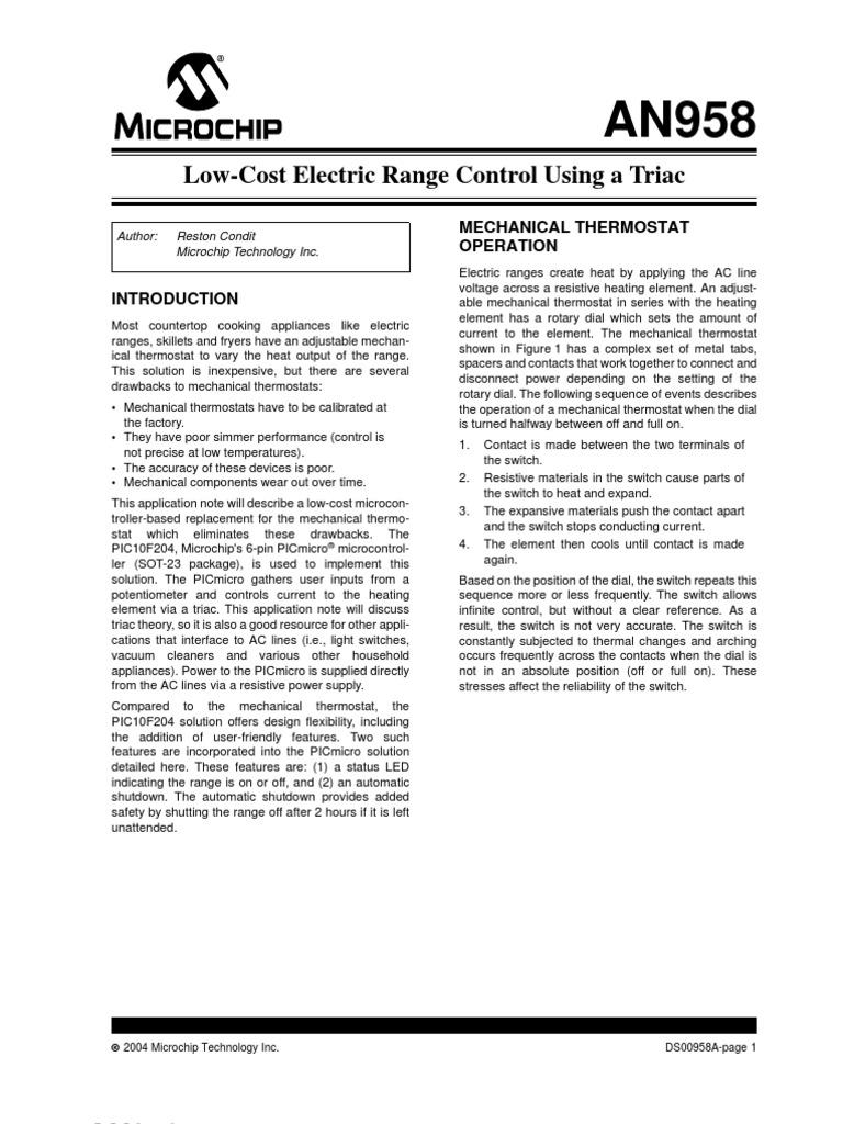 00958a Control De Fase Con Triac1 Thermostat Switch Triacswitchbb