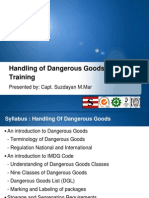 Basic Training Hazardous Cargo Handling