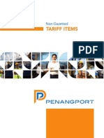 Non Gazetted Tariff Book - Penang Port