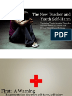 The New Teacher And Youth Self Harm Presentation