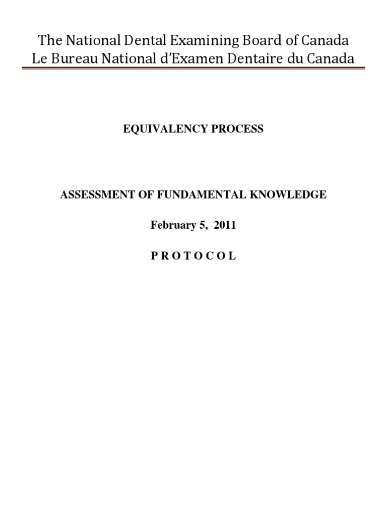 Assessment Of Fundamental Knowledge 2011 Educational