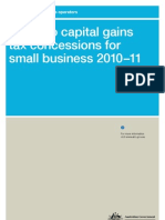 Guide to Capital Gains Tax Concessions for Small Business 2010-2011 NAT 8384