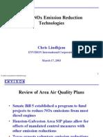 Diesel Nox Reduction Technologies