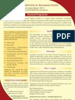 NIAS Doctoral Programme-2012