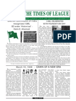 Times of League March 01-31