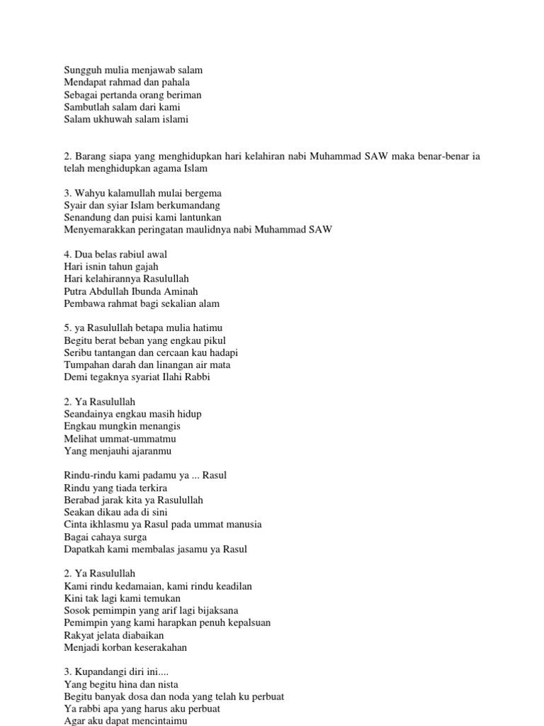 Puisi Kelahiran Nabi Muhammad Saw