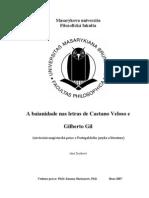 Baianidade Nas Letras de Caetano Veloso e Gilberto Gi1