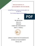 Dissertation report on cash management