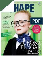 SCA magasinet SHAPE 1 / 2012 fokuserar på gröna pengar