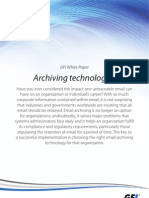 Archiving Technologies