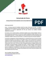 Comunicado de Prensa - Paro de 24 horas en UPR-Ponce