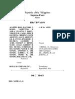 Agapito vs Roxas and Company, Inc.