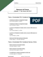 Resumen prensa CEU-UCH 17-03-2012