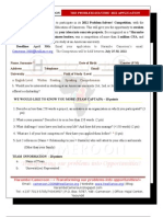 HarambeCameroon (en) - the Problem Solvers 2012 - Application Form