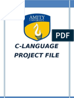 C- Practical File