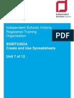 7  bsbitu202a create  use spreadsheets v2