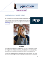 Lisa Goldberg speaks to Odile Faludi for J-Junction on 'Cooking for Love'