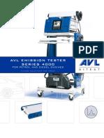AVL Abgastester Serie4000 E 070329