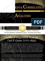 Statistics Regression & Correlation Analysis