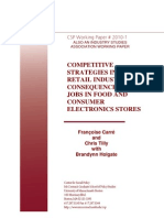 Competitive Strategies in the US Retail Industry- Consequences for Jobs in Food and Consumer Electronics Stores
