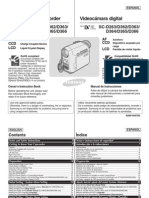 Manual camara Samsung SC-D263/D362/D363/