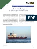 Delta Marine Uses Multi Physics to Optimize Merchant Ship Design