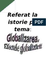 Globalizarea Si Efectele Ei