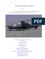 Attack Helicopters From Different Countries