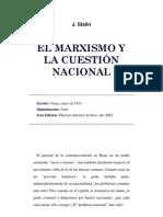 El Marxismo y la cuestión nacional