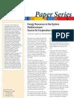 Energy Resources in the Eastern Mediterranean
