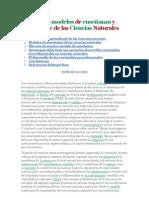 Didáctica y modelos de enseñanza y aprendizaje de las Ciencias Naturales
