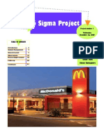 6 Sigma McDonalds Project