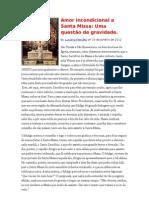 Amor Inconstitucional a Santa Missa uma questão de gravidade Una a Você Brasil