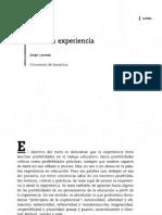 Sobre la Experiencia_Jorge Larrosa