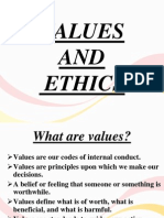 VALUES and Ethics Ppt New